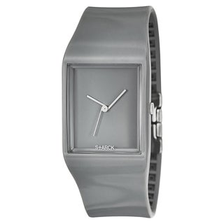 Philippe Starck Men's 'Strap' Polyurethane Quartz Gray Strap Gray Dial Watch