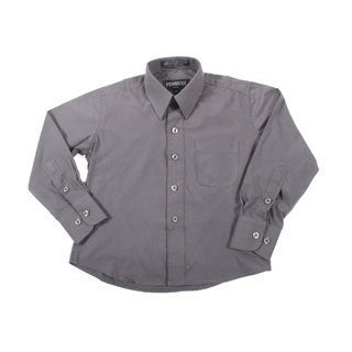 Ferrecci Boys Slim Fit Charcoal Collared Formal Shirt