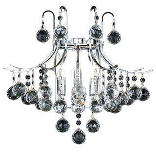 Christopher Knight Home Linz Royal Cut Crystal and Chrome 3-light Wall Sconce