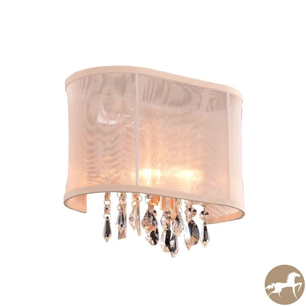 Wall Sconces Overstock : Christopher Knight Home Bienne Royal Cut Crystal and Chrome 1-light Wall Sconce - Overstock ...