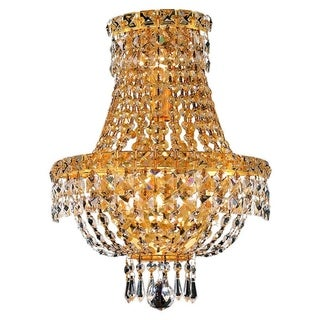 Christopher Knight Home Lavaux Royal Cut Crystal and Gold 3-light Wall Sconce