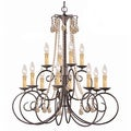 Soho 12-light Chandelier in Dart Rust