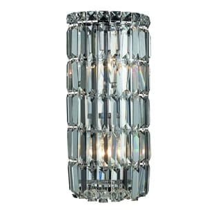 Christopher Knight Home Lausanne 2-light Royal Cut Crystal/ Chrome Wall Sconce