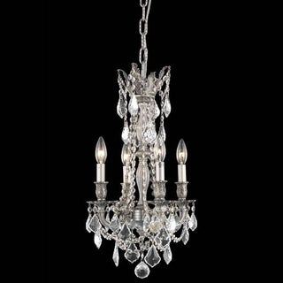 Christopher Knight Home Zurich 4-light Royal Cut Crystal/ Pewter Chandelier