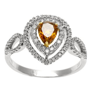 18k White Gold 4/5ct TDW Yellow and White Diamond Ring