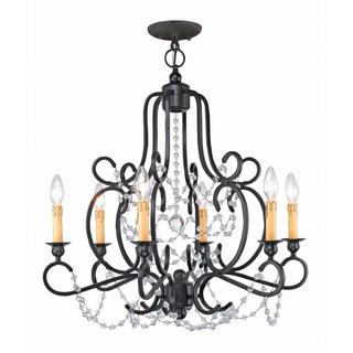Orleans 6-light Black Iron finish Chandelier