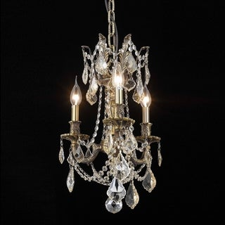 Christopher Knight Home Lugano 3-light Royal Cut Gold Crystal and Antique Bronze Chandelier