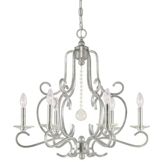 Orleans 6-light Olde Silver Chandelier