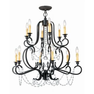 Orleans 12-light Black Iron Finish Chandelier