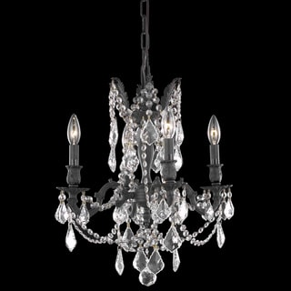 Christopher Knight Home Zurich 4-light Royal Cut Crystal and Dark Bronze Chandelier