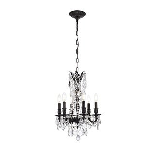 Christopher Knight Home Lucerne 6-light Royal Cut Crystal and Dark Bronze Chandelier