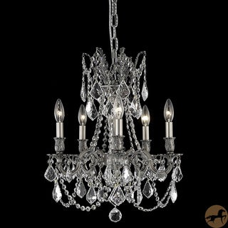 Christopher Knight Home Meilen 5-light Royal Cut Crystal and Pewter Chandelier