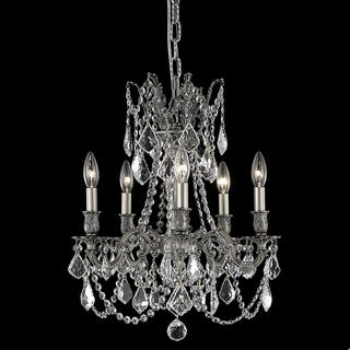 Somette Meilen 5-light Royal Cut Crystal and Pewter Chandelier