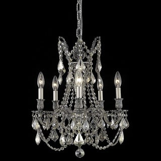 Christopher Knight Home Meilen 5-light Royal Cut Gold Crystal and Pewter Chandelier