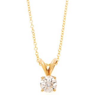 Neda Behnam DFAC 14k Gold Diamond Solitaire Necklace