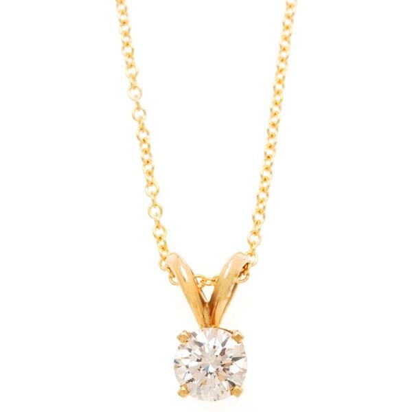 Neda Behnam DFAC 14k Gold Diamond Solitaire Necklace