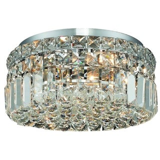 Somette Lausanne 4-light Royal Cut Crystal/ Chrome Flush Mount