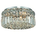 Christopher Knight Home Lausanne 4-light Royal Cut Crystal/ Chrome Flush Mount