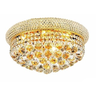 Christopher Knight Home Geneva 8-light Royal Cut Crystal and Gold Flush Mount