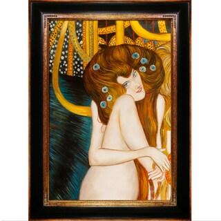 Gustav Klimt 'Beethoven Frieze' Hand Painted Framed Canvas Art