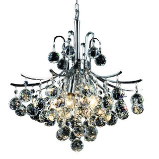 Christopher Knight Home Ticino 6-light Royal Cut Crystal and Chrome Chandelier