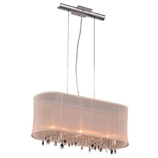 Christopher Knight Home Bienne 3-light Royal Cut Crystal and Chrome Pendant