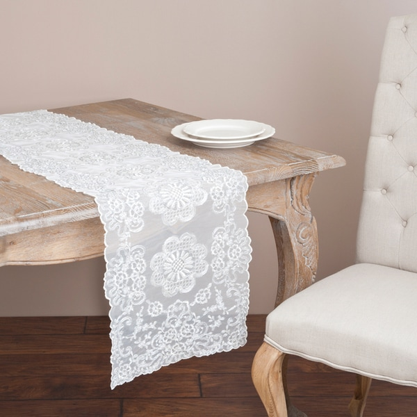 Silver Rope Embroidered Runner