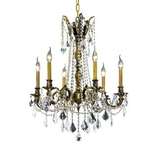 Christopher Knight Home Lucerne 6-light Royal Cut Crystal and Antique Bronze Chandelier