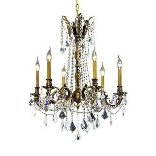 Somette Lucerne 6-light Royal Cut Crystal and Antique Bronze Chandelier