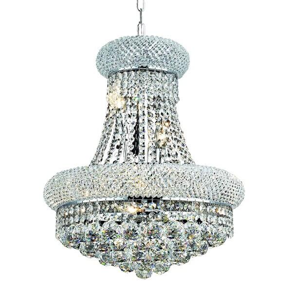 Somette Geneva 8-light Royal Cut Crystal and Chrome Chandelier