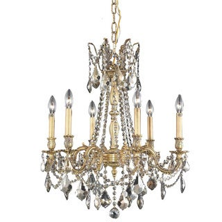 Christopher Knight Home Lucerne 6-light Royal Cut Gold Crystal/ French Gold Chandelier