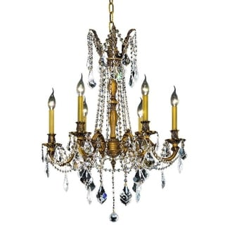 Christopher Knight Home Lucerne 6-light Royal Cut Crystal and French Gold Chandelier