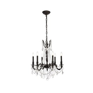 Christopher Knight Home Lucerne 6-Light Royal Cut Crystal/ Dark Bronze Chandelier