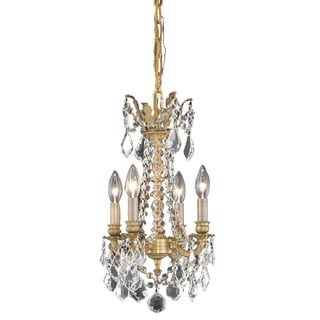 Christopher Knight Home Zurich 4-light Royal Cut Crystal and French Gold Chandelier