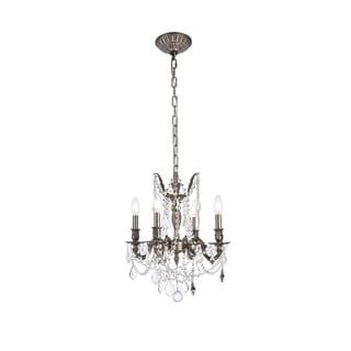 Christopher Knight Home Zurich 4-light Royal Cut Crystal and Pewter Chandelier