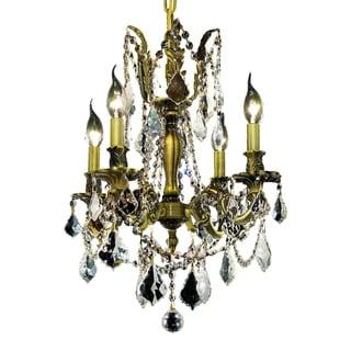 Somette Zurich 4-light Royal Cut Crystal and Antique Bronze Chandelier