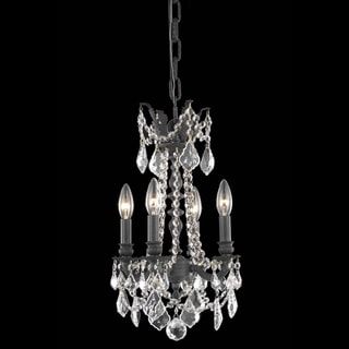 Christopher Knight Home 'Zurich' 4-light Royal Cut Crystal/ Dark Bronze Chandelier