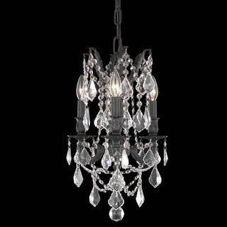 Christopher Knight Home Lugano 3-light Royal Cut Crystal and Antique Bronze Chandelier