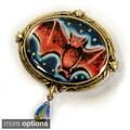 Sweet Romance Bronzetone Vintage Halloween Pin