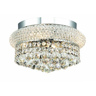 Christopher Knight Home Geneva 4-light Royal Cut Crystal and Chrome Flush Mount