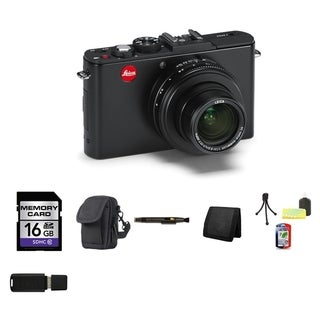 Leica D-Lux 6 10.1MP Black Digital Camera 16GB Bundle