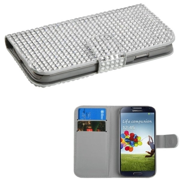 INSTEN Silver Book-Style Wallet for Samsung Galaxy S4 I337
