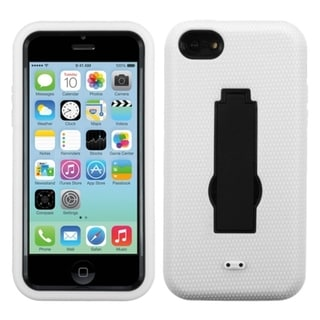 BasAcc Black/ White Symbiosis Stand Case for Apple iPhone 5C