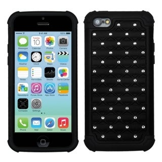 INSTEN Black/ Black TotalDefense Phone Case Cover for Apple iPhone 5C