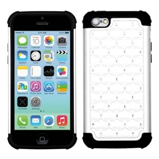 INSTEN White/ Black TotalDefense Phone Case Cover for Apple iPhone 5C