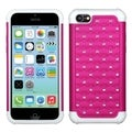 BasAcc Hot Pink/ Solid White TotalDefense Case for Apple iPhone 5C