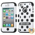 BasAcc Black Polka Dots/ White/ Black TUFF Case for Apple iPhone 4/ 4S