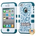 BasAcc Digital Camo/ Turquoise TUFF Hybrid Case for Apple iPhone 4/ 4S