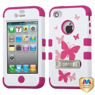 BasAcc Butterfly Dancing/ Pink TUFF Case for Apple iPhone 4/ 4S