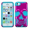 BasAcc Metallic Pink/ Tropical Teal Skullcap Case for Apple iPhone 5C